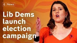 Jo Swinson launches the Lib Dems' 2019 election campaign