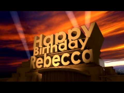 hqdefault happy birthday rebecca youtube