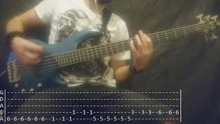 Slipknot - Psychosocial Bass Cover (Tabs)