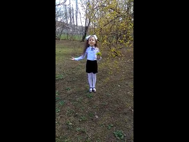 Изображение предпросмотра прочтения – ДианаГаджиева читает произведение «Сельская песенка» А.Н.Плещеева