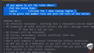 How to agree to the rule in a Discord