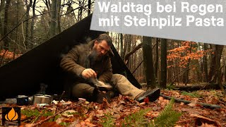 A Day in the woods, with Mushroom Pasta and anti Flue Tea (ENGL SUBS)