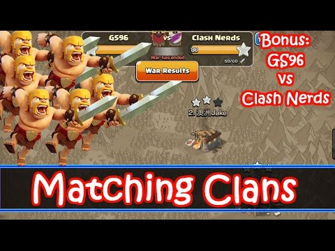 How To Arrange War Matches + GS96 vs Clash Nerds Fresh Th9 Attacks