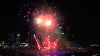Singapore Fireworks 2012 at Marina Bay Happy New Y