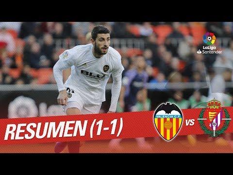 Resumen de Valencia CF vs Real Valladolid (1-1)