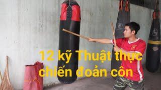 12 kỹ thuật thực chiến đoản cô,võ gậy_Toankungfu