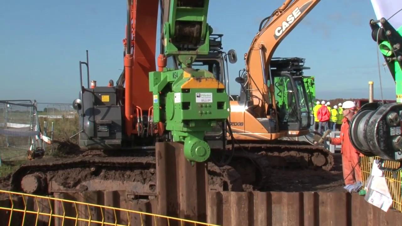 Excavator Mounted Vibrators from Piletec