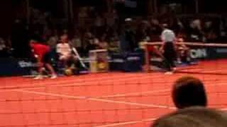 John McEnroe swearing @ the line judge