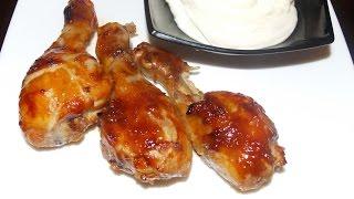 видео Рецепт голень куриная в духовке