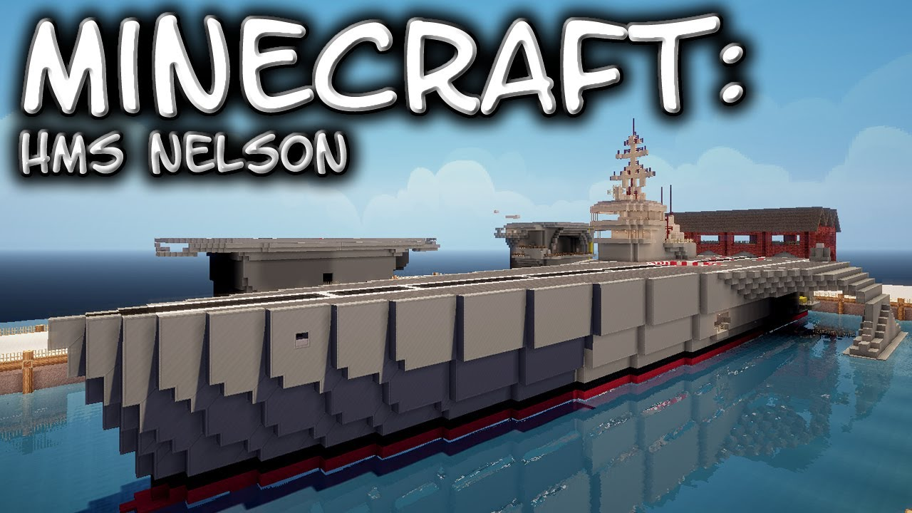 Minecraft Custom Ship Hms Nelson Helicopter Carrier