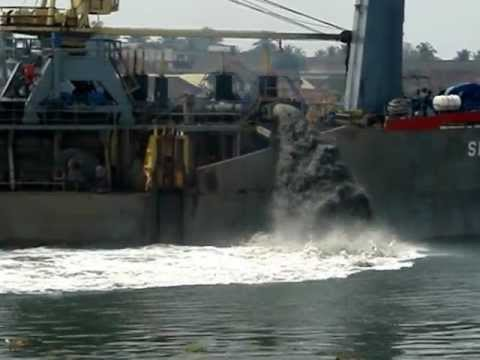 M V SERAM Indonesia Ship caught dumping waste in Cochin harbor in India