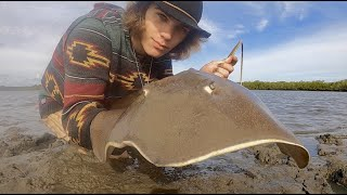 STINGRAY Rescue & River Monster Hunting! (HUGE EEL)