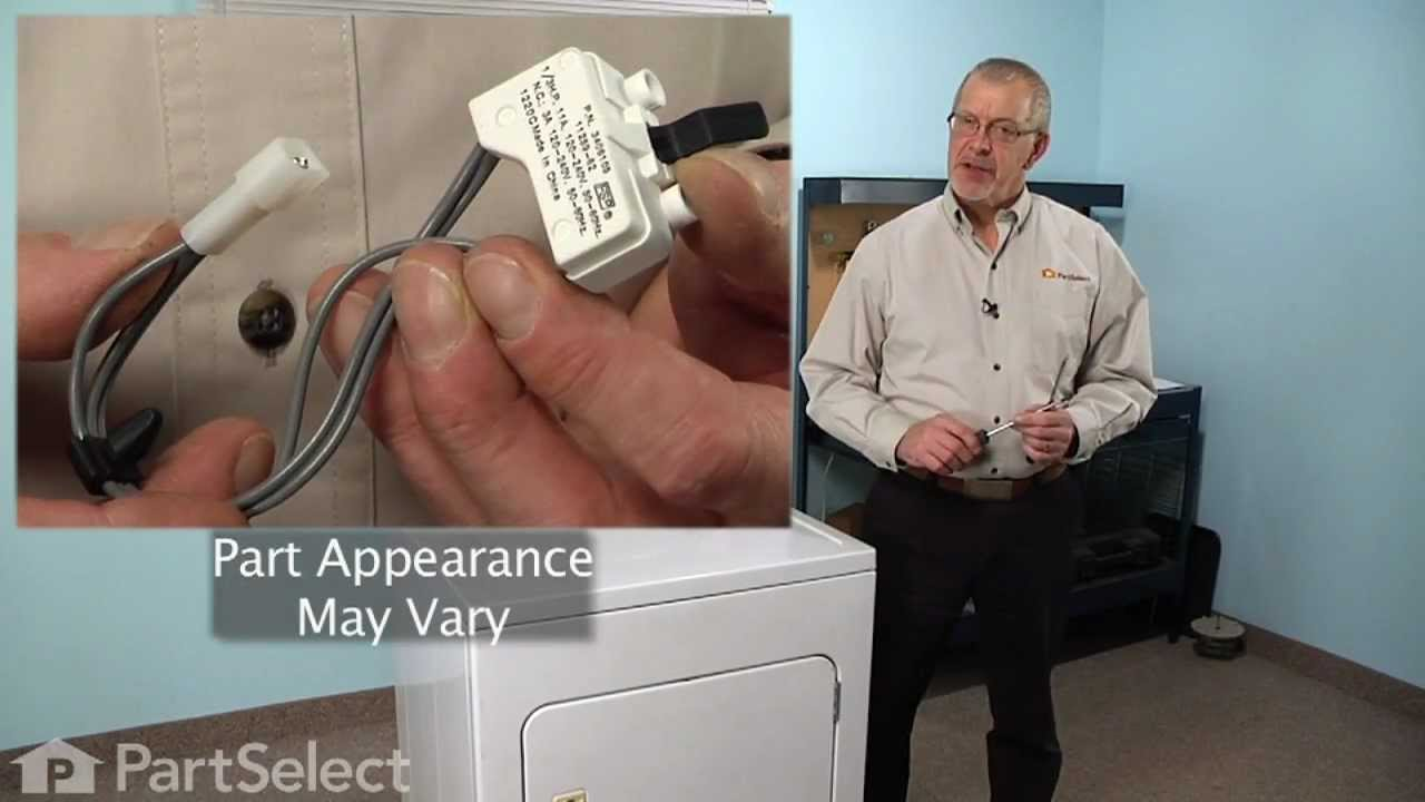 small resolution of dryer repair replacing the door switch whirlpool part 3406105