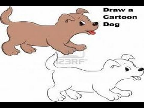 How to draw a cartoon dog - how to draw new