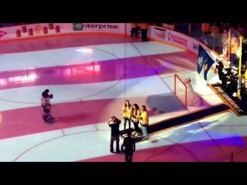 5/2/2017 Preds vs Blues Vince Gill & Daughters National Anthem