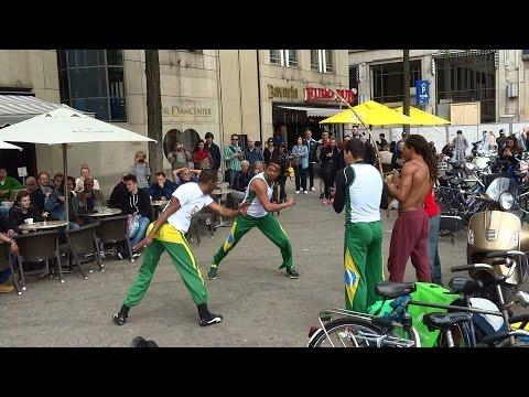 Capoeira Brazilian Martial Art on the Dam Square in Amsterdam