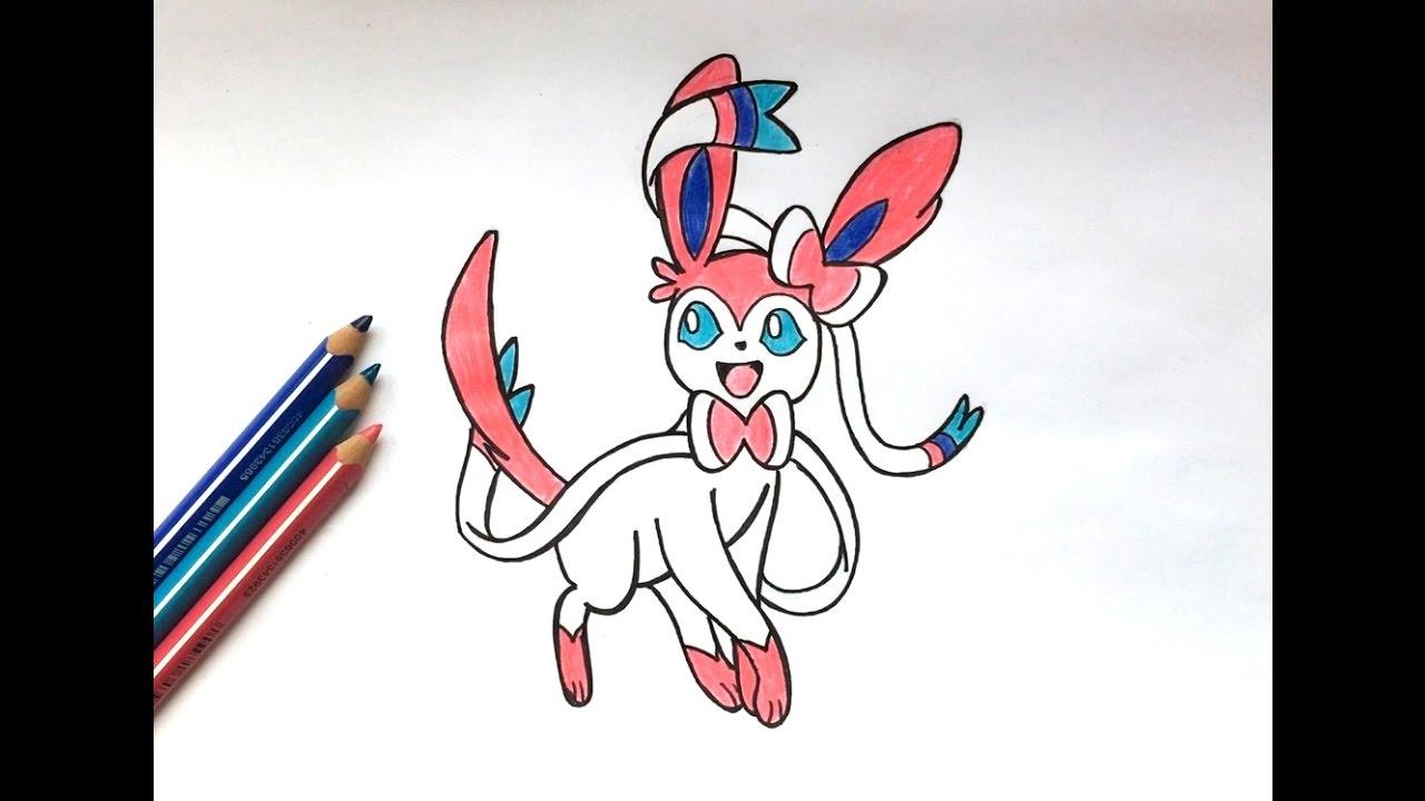 Dessin nymphali pokemon youtube - Dessin de pokemon facile ...