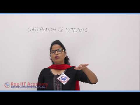 Classification of Material Chemistry Pre foundation Std 6th video lecture