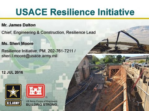 USACE Resilience Initiative - What You Need to Know