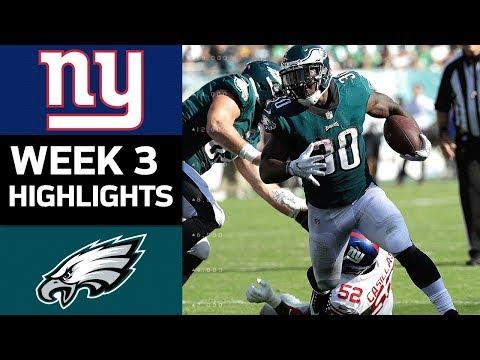 Giants vs. Eagles   NFL Week 3 Game Highlights