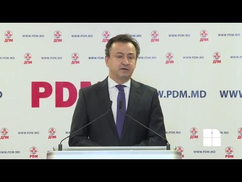 BRIEFING DE PRESĂ PARTIDUL DEMOCRAT DIN MOLDOVA