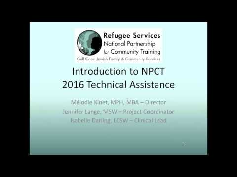 Overview of Needs Assessment and Introduction to Refugee Mental Health Webinar