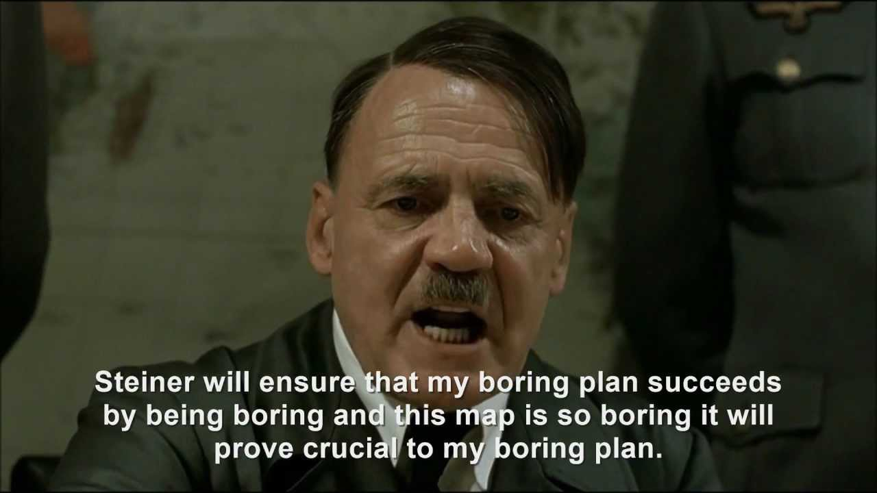 Hitler plans a boring plan