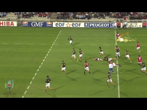 Ngwenya burns Habana in 2007 - RWC special effects