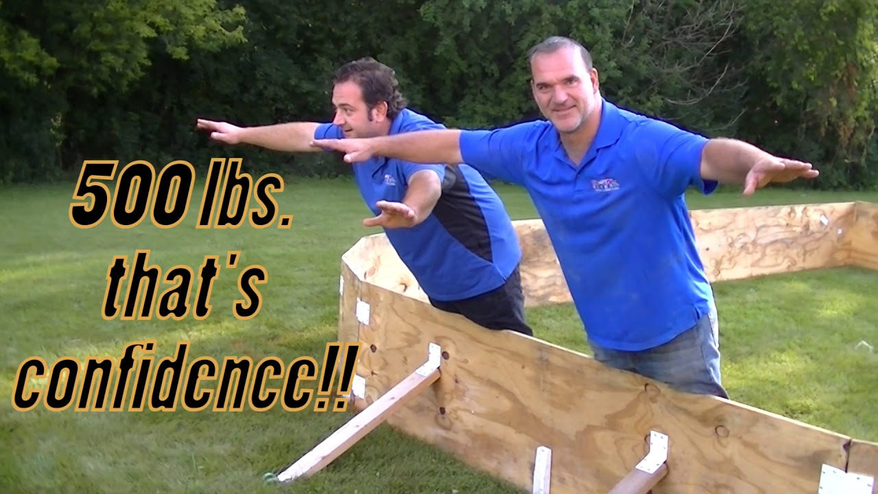 Building a backyard ice rink with plywood boards. - YouTube