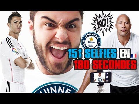 RECORD DU MONDE DE SELFIES EN 3MIN ! - Ronaldo & The Rock KO