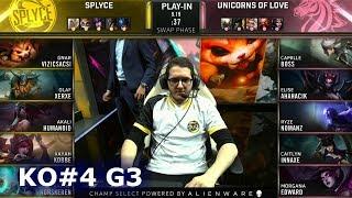 UOL vs SPY - Game 3 | Knockouts Play-Ins S9 LoL Worlds 2019 | Unicorns of Love vs Splyce G3