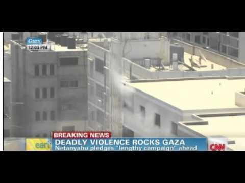 Blast in Gaza during CNN live shot