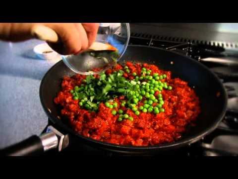 Chorizo and pea bites recipe from Waitrose