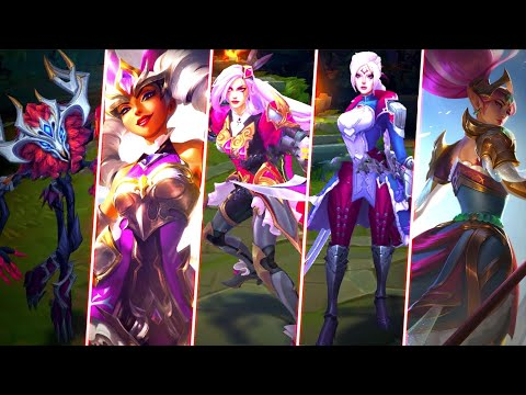 NEW BATTLE QUEENS & ELDERWOOD SKINS - Battle Queen Janna, Katarina, Qiyana, Diana, Rell