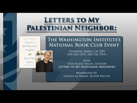 National Book Club Webinar with Yossi Klein Halevi, author of Letters to My Palestinian Neighbor