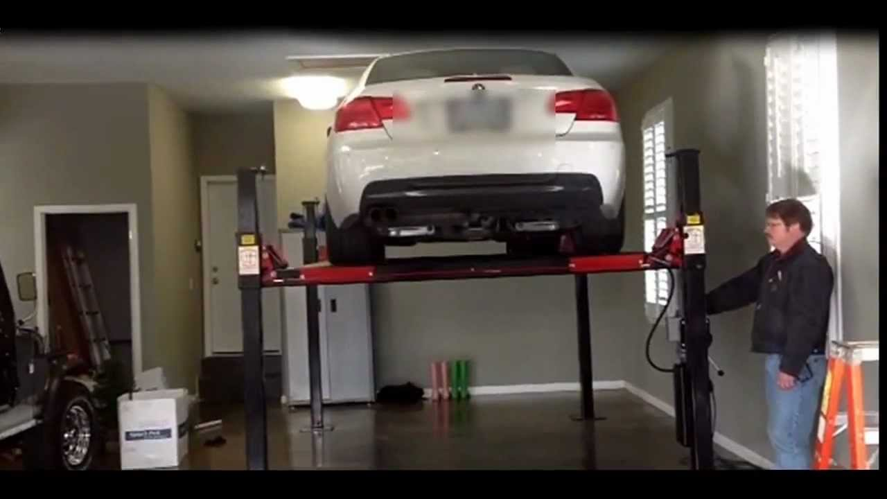 4 post automotive lift demo youtube