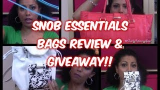 REVIEW of Bag Snob's NEW bags! - CurlyKimmyStar (GIVEAWAY ENDED) Thumbnail
