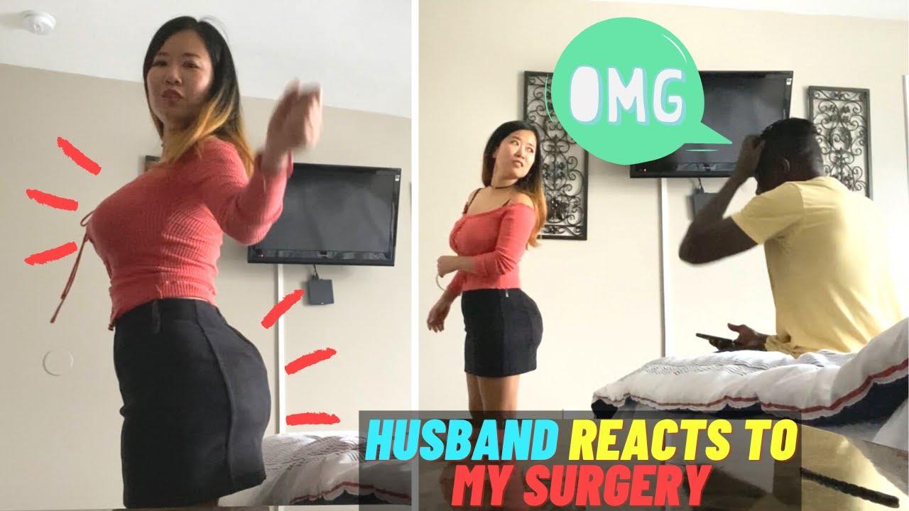 Download Korean Wife Got a Boob Job and a Butt Job Prank on Husband