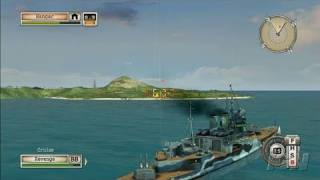 Battlestations: Midway Xbox 360 Gameplay - Battleship Battle
