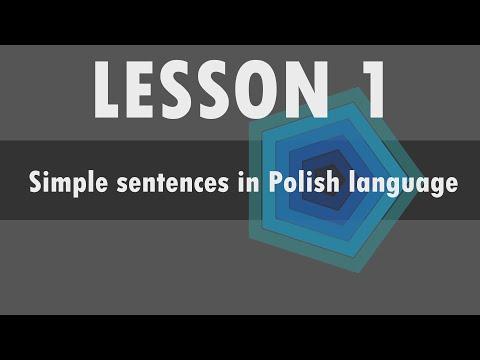 Lesson 1 – Simple sentences in Polish language