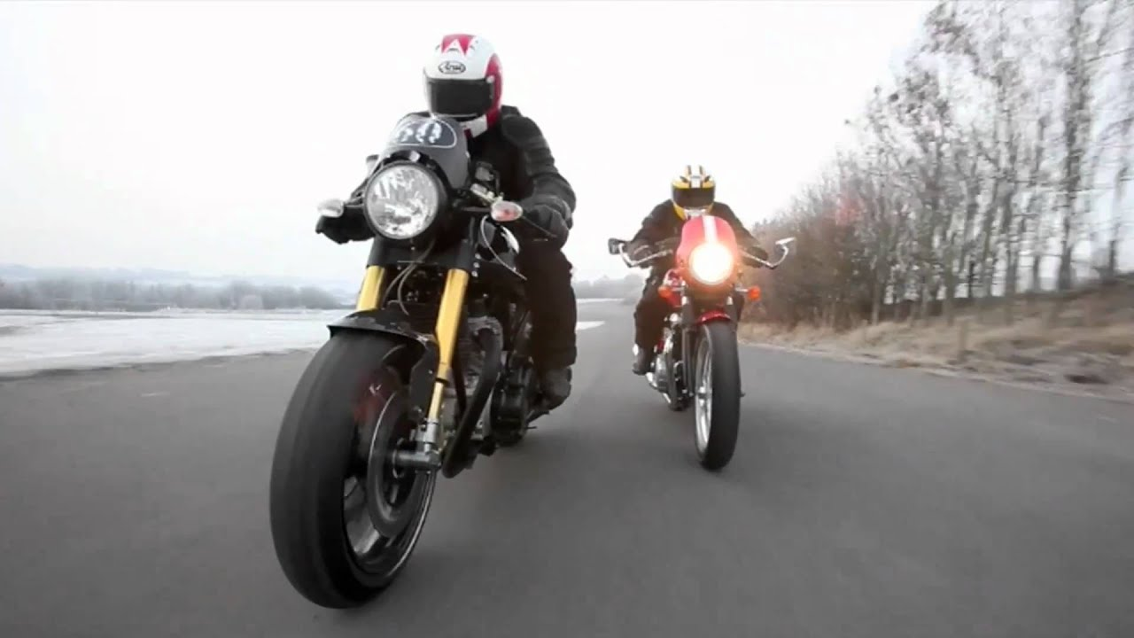 Norton Cafe Racer SP Vs Triumph Thruxton
