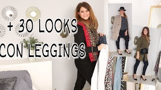 Moda / Como combinar leggings y hacer looks diferentes / Black leggings outfit  ootd