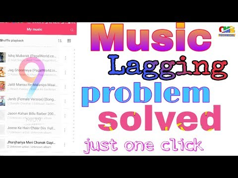 MIUI 9 update || Music lagging problem solved || just one click || by oms technical||