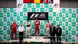 Formula 1 Podium Malaysian Grand Prix 2012 (Brilliant View!) [Full HD]