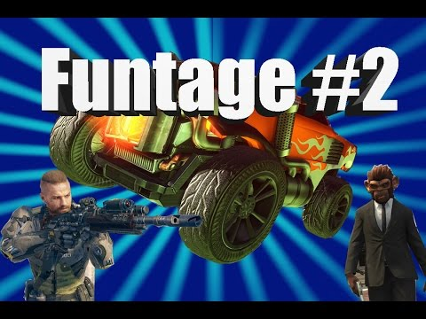 FUNTAGE #2 (ROCKET LEAGUE, GTA, AND MORE FUNNY MOMENTS)