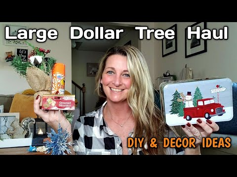 LARGE DOLLAR TREE HAUL 🏵 All NEW Items⭐DIY Ideas/ Oct 13