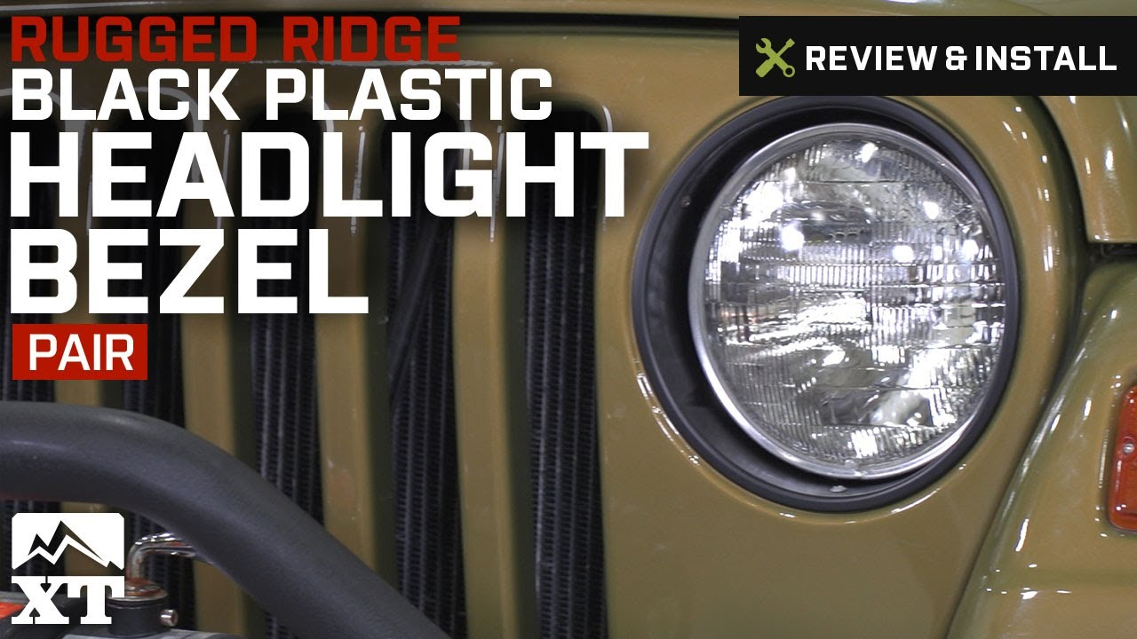 Rugged Ridge 12419.23 Bezel Headlight Pair Black Tj