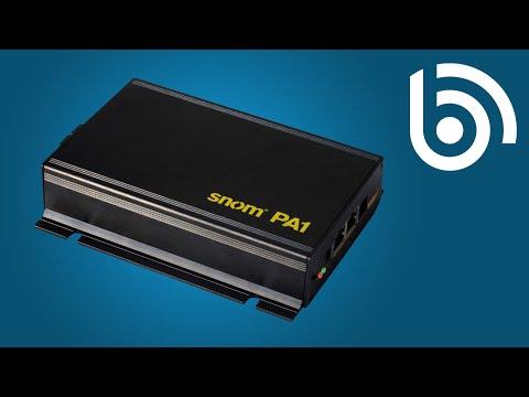 snom PA1 VoIP/SIP Tannoy & Public Announcement System Unboxing
