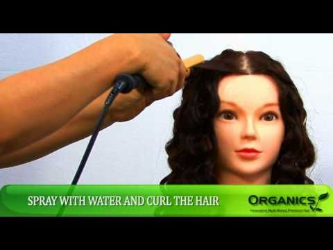 "Cosmetology Mannequin Heads with 28"" Recurlable Organics Hair"