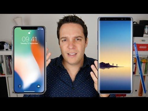Le Samsung Galaxy Note 8 et l'iPhone X sont ils vraiment comparables ?